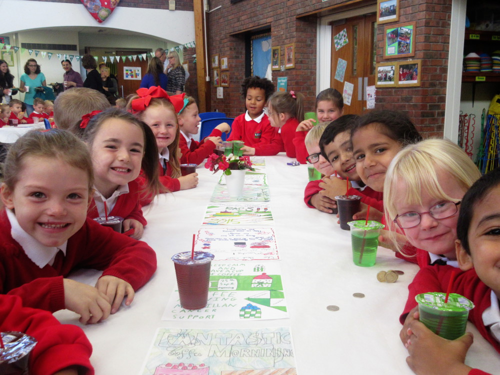 Children at macmillan coffee morning