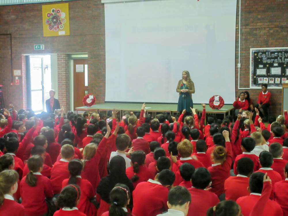 Assembly with Miss McMaster