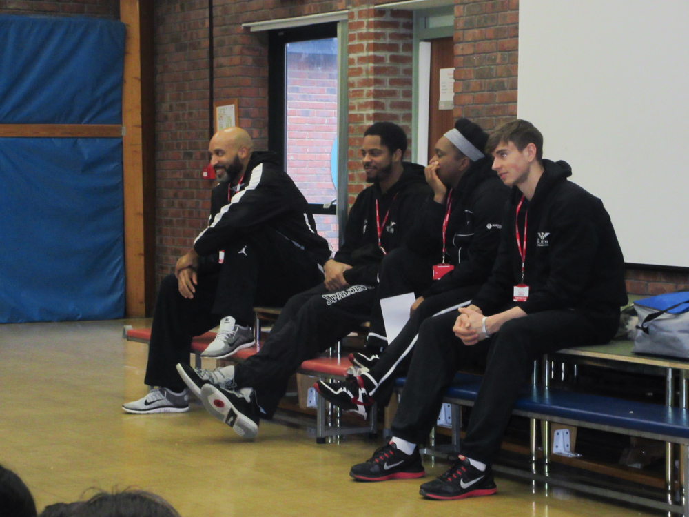 Some of the Newcastle Eagles players