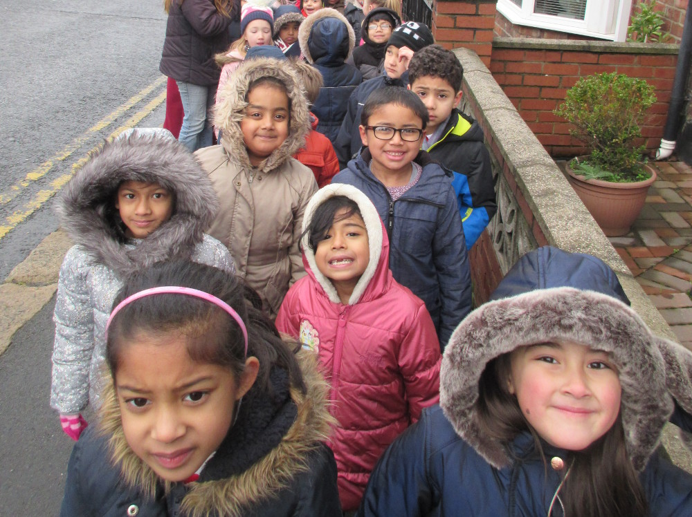Year 1 children out walking