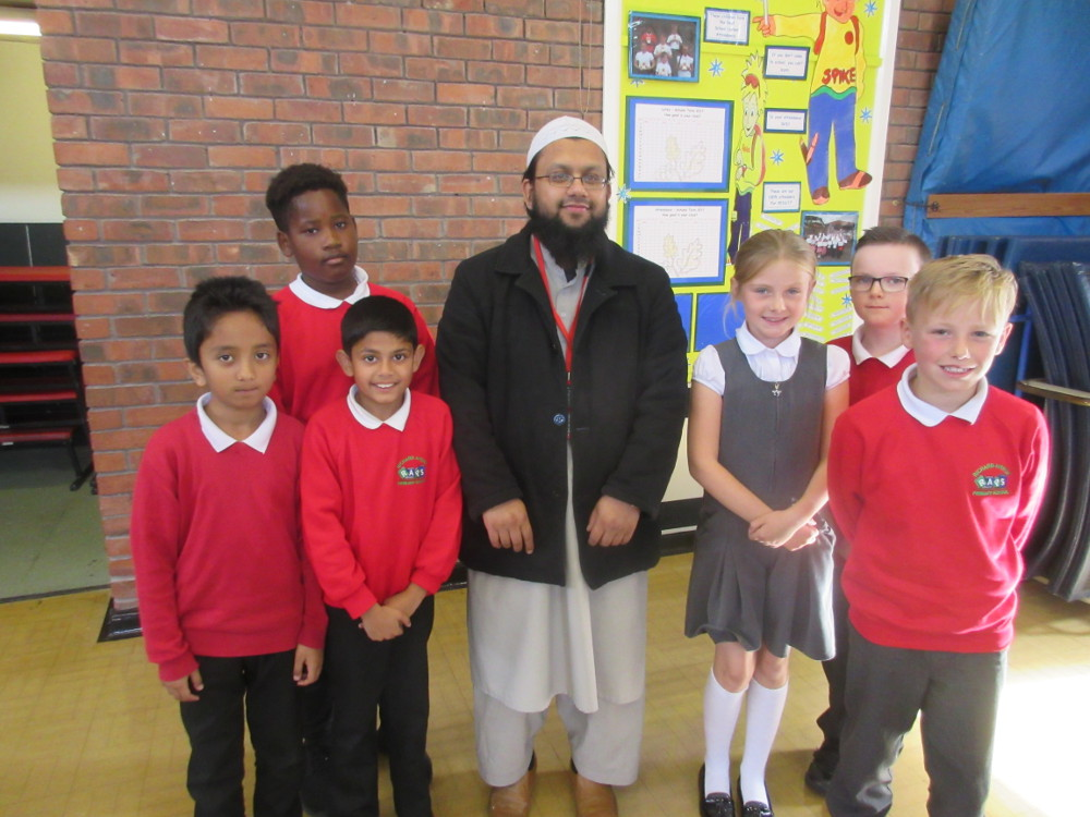 The local Imam with the children