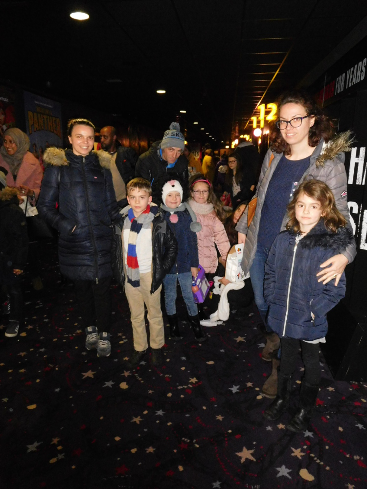 Family cinema trip