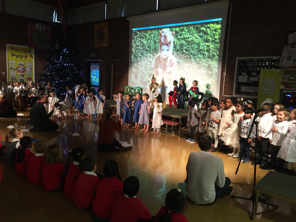 EYFS perform Christmas Counts