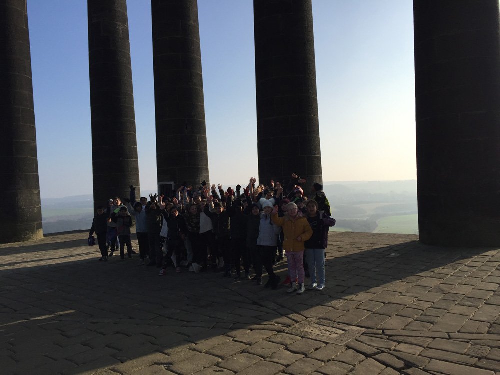 The Children at Penshaw Monument