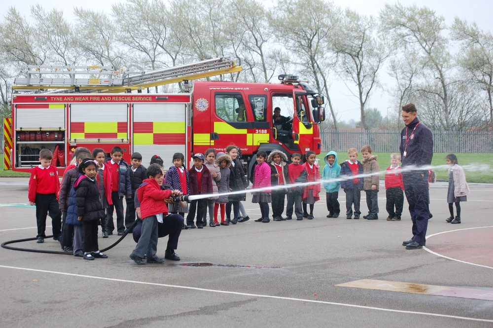 Firefighters with Year One