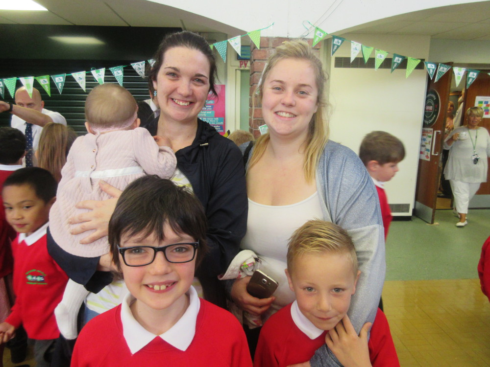 Children with their parents at our Macmillan coffee morning