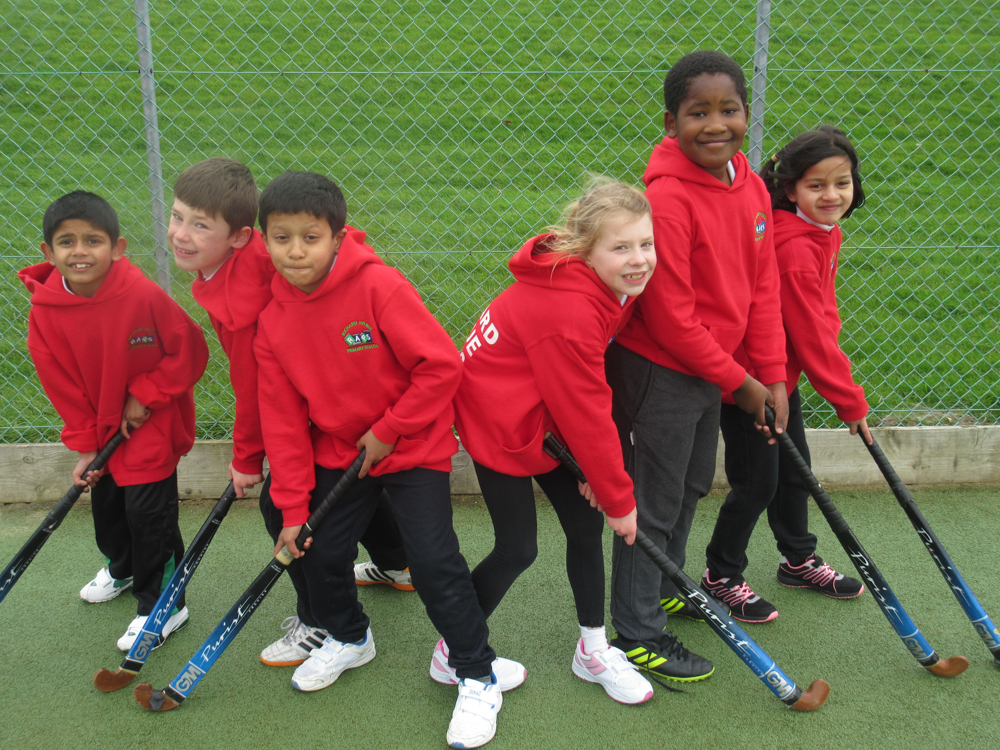 The Year 3 and 4 Hockey Team