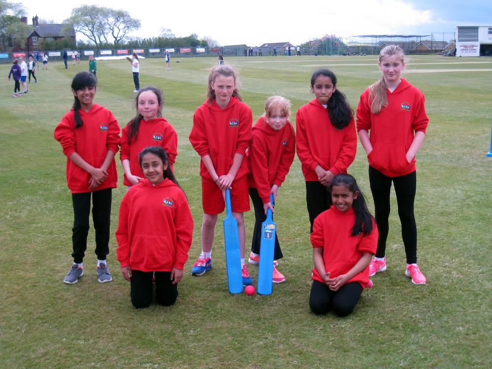 The Girls Year Six Cricket team