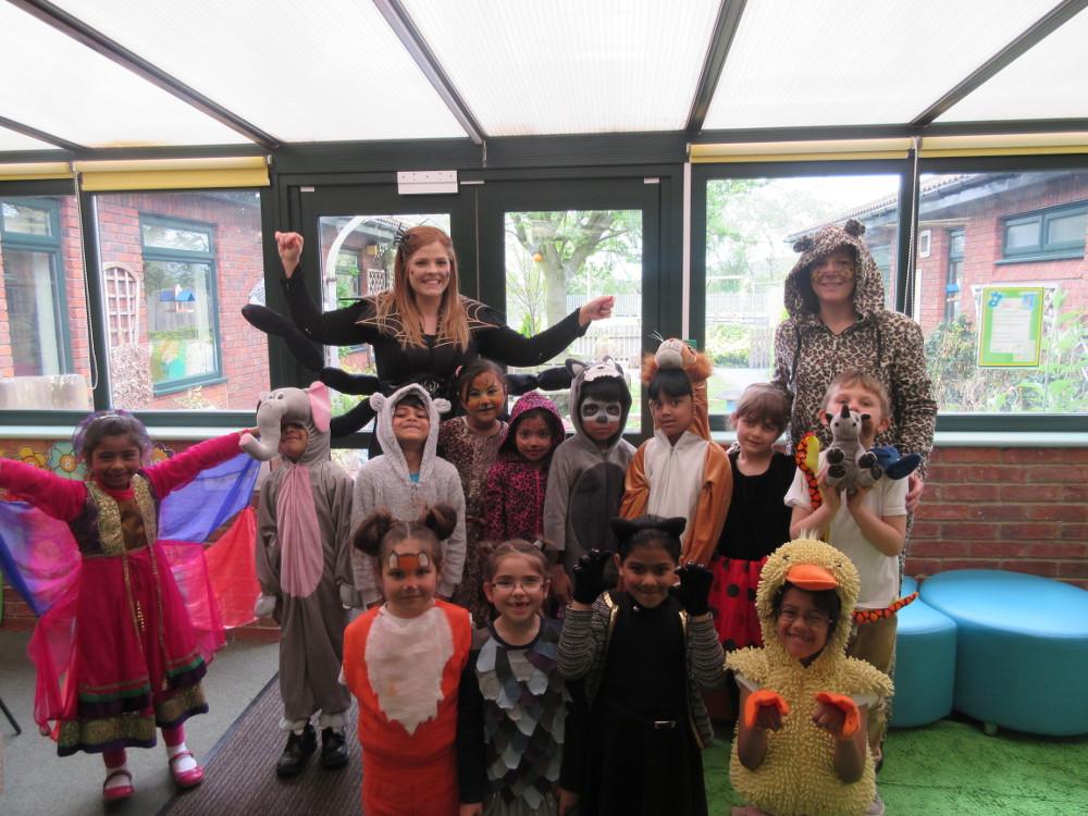 Year 2 children dressed as animals