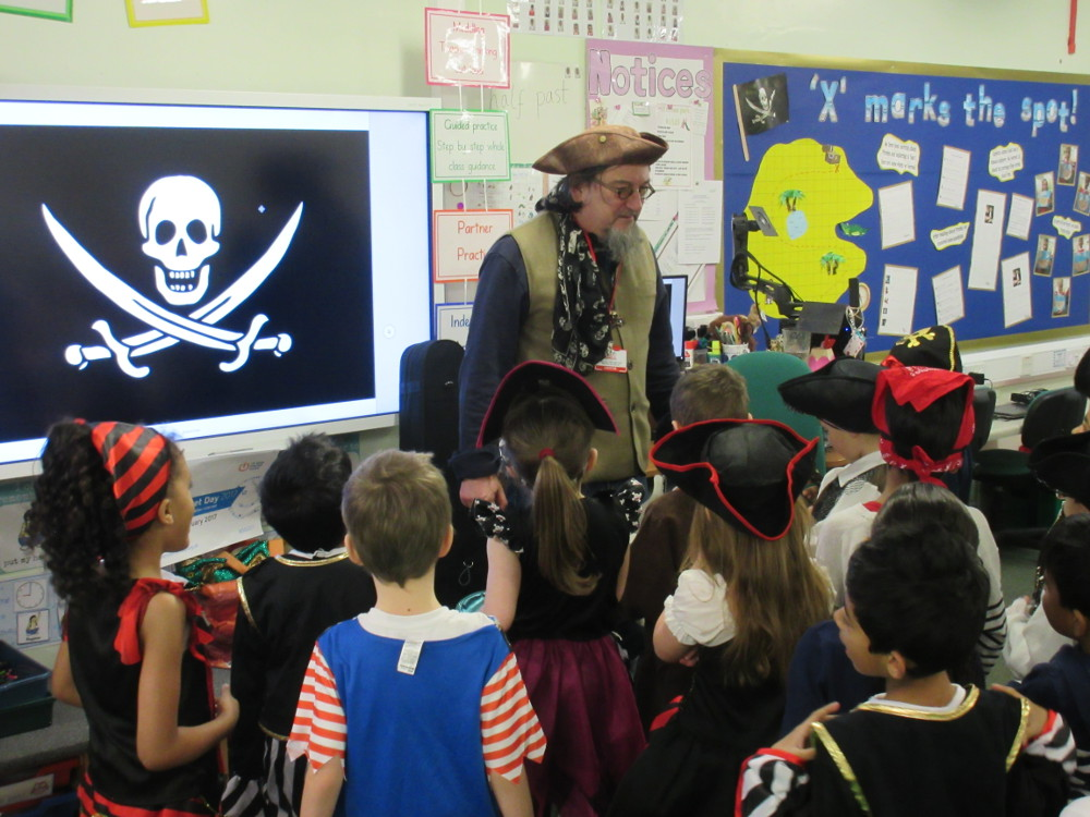 The pirates with Year 1 and 2