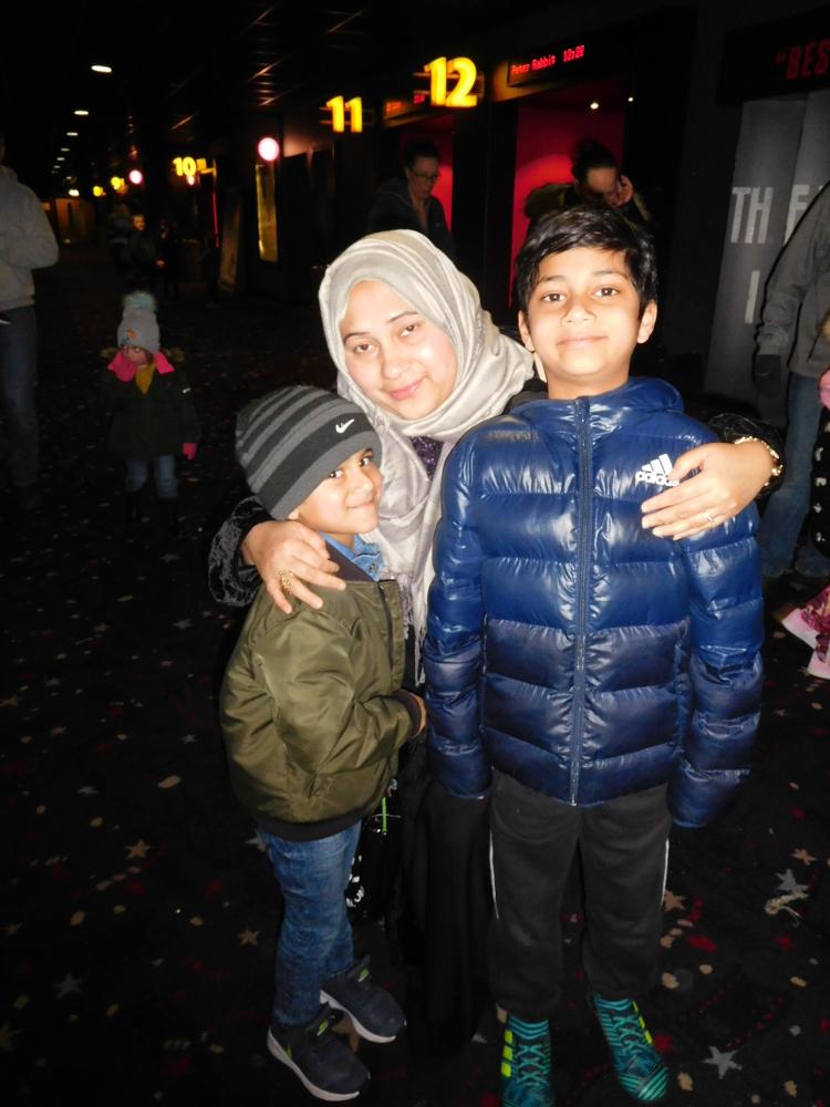 Family cinema trip