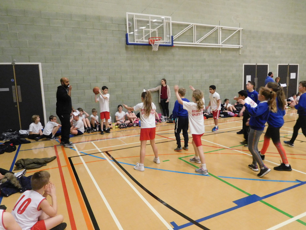 One of our basketball teams in action