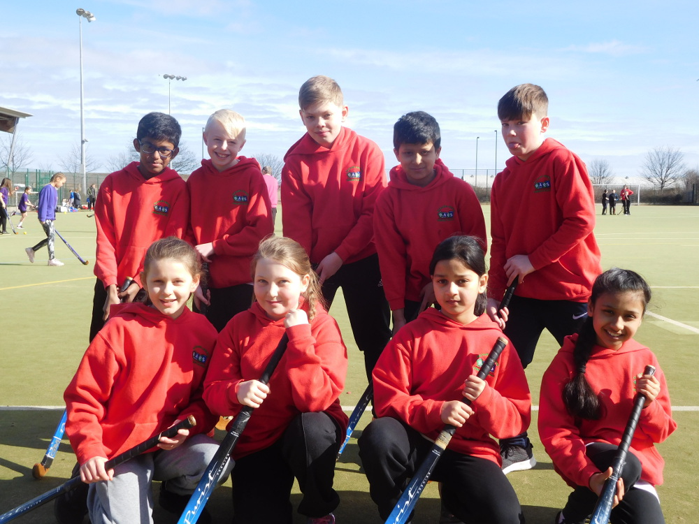 The Year 5 and 6 Hockey Team