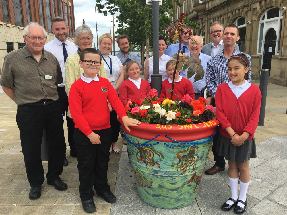Northumbria in Bloom pots