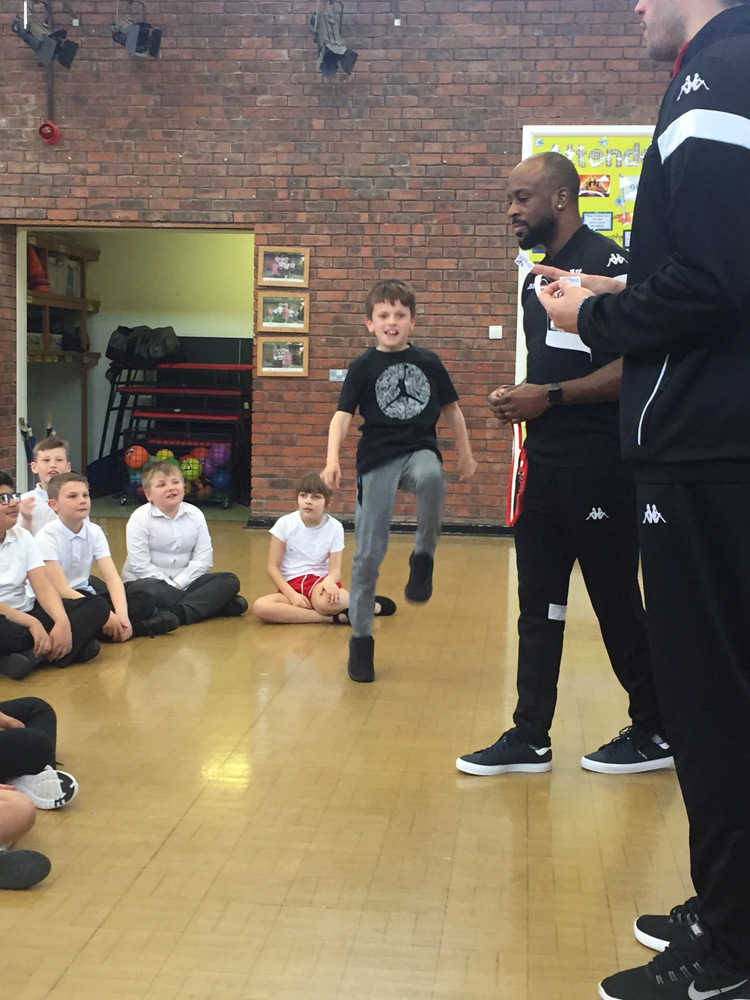 Year 5 with the Newcastle Eagles