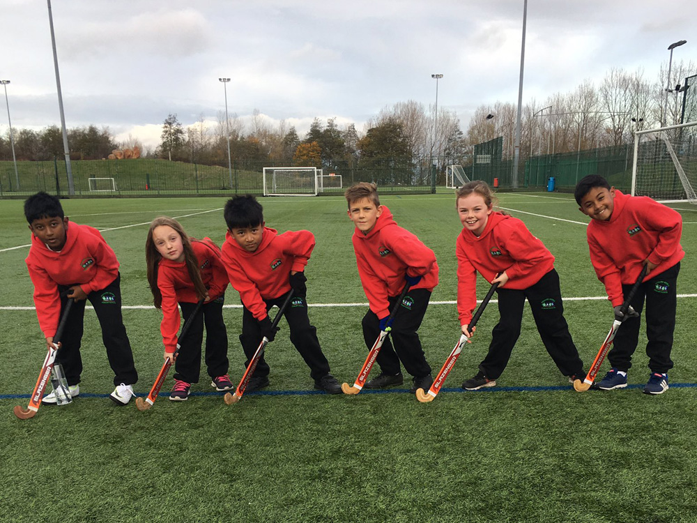 The Year 3/4 Hockey Team at the Sunderland Finals